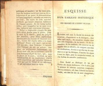 滋賀大学所蔵 コンドルセ『人間精神の進歩に関する歴史的展望の素描』(1795)