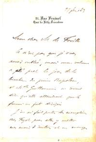 レオン・セーからド・フォヴィーユへの書簡 表