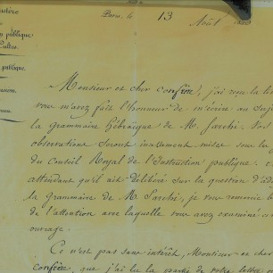 Guizot's letter picture